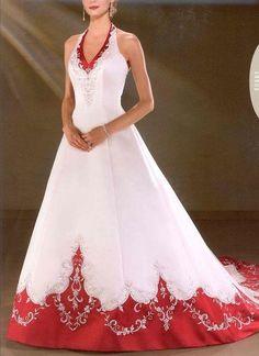 Robe de mariée blanc rouge