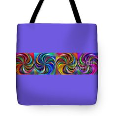"Swirling Colors Horizontal Collage by Kaye Menner Tote Bag 18"" x 18"""