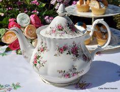 """Lavender Rose"" Vintage Royal Albert China Teapot"