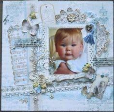 Layout: The Birds Song Scrapbook Canvas, Baby Girl Scrapbook, 12x12 Scrapbook, Scrapbook Sketches, Scrapbook Page Layouts, Scrapbook Albums, Scrapbooking Ideas, Baby Girl Cards, Multi Photo