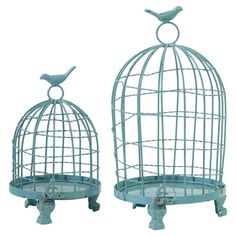 Lark Manor 2 Piece Ethel Decorative Bird Cage Set