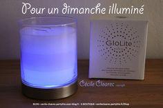 Bougie GloLite, parfaite pour illuminer votre journée ! Photo et montage par Cécile Cloarec conseillère PartyLite