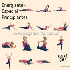 Rutina de yoga llena de energia