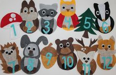 Month to Month Felt Creations  Woodland Creatures by mermarie