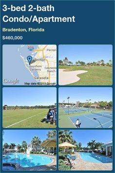 3-bed 2-bath Condo/Apartment in Bradenton, Florida ►$460,000 #PropertyForSale #RealEstate #Florida http://florida-magic.com/properties/1991-condo-apartment-for-sale-in-bradenton-florida-with-3-bedroom-2-bathroom