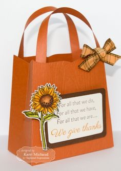 We Give Thanks Gift Bag by Kerri Michaud #Thanksgiving, #GiftGiving