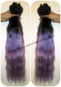 Ombre Balayage Human Hair Extensions Full by CherieHairExtensions