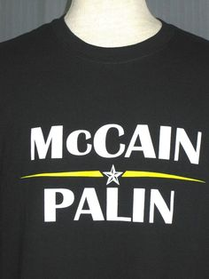 aaaaec2a2 New 2012 John McCain Presidential Campaign Adult XL Navy Blue T-Shirt (X- Large)