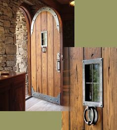 Barn doors today are becoming part of interior decoration in many houses because they are stylish. When building a barn door on your own, barn door hardware kit Gate Design, Door Design, House Design, Rustic Doors, Wooden Doors, Barn Doors, Wrought Iron Doors, Cool Doors, Barn Door Hardware
