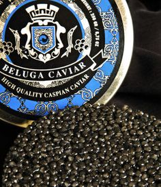 "Caspian Beluga Caviar:  caviar-lover.com  BELUGA this is the most expensive type and is produced by the largest species of sturgeon (about 800kg sturgeon). The eggs are dark grey, firm, heavy and well separated. These eggs are the biggest, but most fragile. When eggs burst, the caviar becomes very oily. ""Dima Sharif: caviar"""
