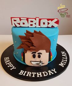 Swirl by Melanie Gray - Roblox themed cake and cupcakes going out to Millan. Roblox Birthday Cake, Roblox Cake, Minecraft Birthday Cake, Birthday Cake For Mom, Boy Birthday, Happy Birthday, Birthday Ideas, Flower Birthday, Birthday Sayings