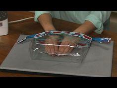 How to make Clear vinyl zipper bags - YouTube