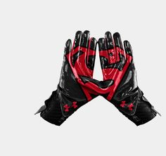 hmmm i want a pair of these for ball! Men's Under Armour® Alter Ego Superman Highlight Football Gloves