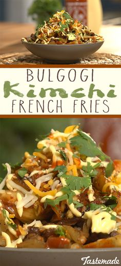 Bulgogi kimchi fries are the new chili cheese fries. Guilty pleasures collide in this incredible East meets West hybrid.