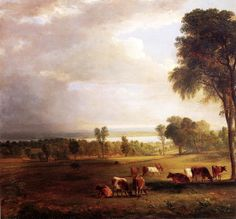 Gathering Storm - Durand, Asher Brown - Hudson River School - Oil on canvas