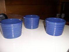 3 Blue USA Pottery Bowls   eBay