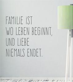 Familie ist... als Wandtattoo