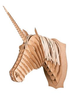 Merlin Jr Medium Unicorn Trophy White or Brown by CardboardSafari, $30.00