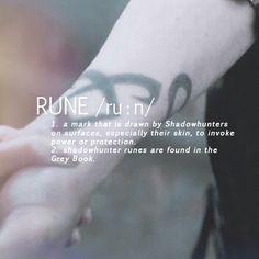 Shadowhunter Glossary: Rune