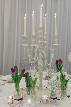 All Decor and Styling provided by Crow Hill Weddings. Fresh Flowers provided by Roxanne at Lily Blossom. Fresh Flowers, Crow, Lily, Candles, Pearls, Weddings, Elegant, Vintage, Decor