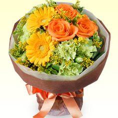 【予算で選ぶ  3000円から】オレンジバラのブーケ