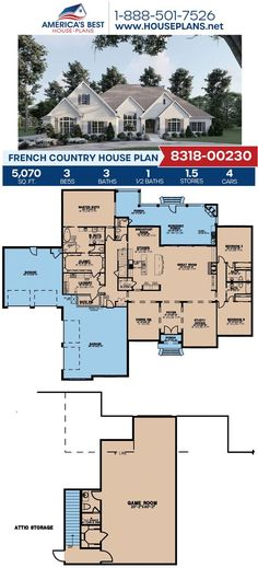 Are you searching for the perfect two-story design for your family? Plan 8318-00230 is it, featuring 5,070 sq. ft., 3 bedrooms, 3.5 bathrooms, a breakfast nook, a screened porch, a media room, and a study area. Get a better look at Plan 8318-00230 on our website today!