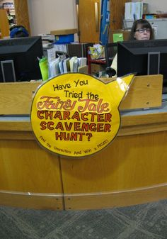 Scavenger hunt in the Library Program for Kids-adapt for all the new books based on fairy tales?