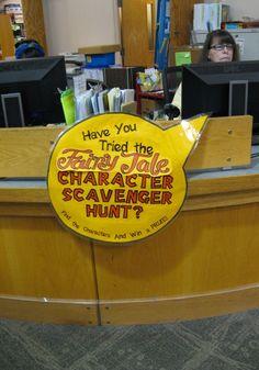 Scavenger hunt in the Library Program for Kids - Doing it!!