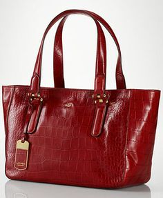 Ralph Lauren Lanesborough Shopper...hmm...wonder if the red is as saturated as it appears in the photo or is more of an orange red in real life...
