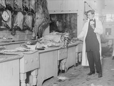 Photo of Butcher stands idle before his counter of meat during the meat boycottBain News date created or published later by BainReference: