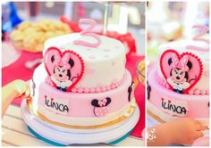 Birthday cake with Minnie mouse
