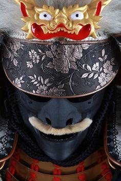 Samurai classic Mask and helmet detail