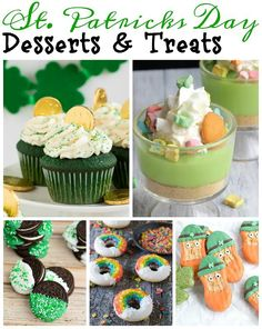 Get to feeling festive with these amazing St. Patrick's Day Desserts and Treats!