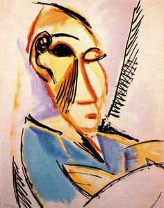 "Pablo Picasso, ""Head of the Medical Student"" (Study for Les Demoiselles d'Avignon), June 1907"
