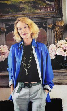 Love this necklace on L. de la Falaise Source: That's Not My Age blog   The Loulou de la Falaise book