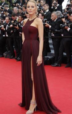 Blake Lively 2014 Festival de Cannes longue rouge de mousseline