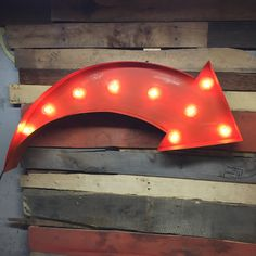 Vintage Steel Welded Marquee Swoop Arrow with lights by Farnswood on Etsy