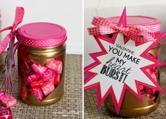 Create a red and pink Starburst jar.
