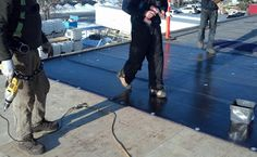 Flat roof replacement with a SBS torch-on onto an industral building in Calgary. The initial assembly was a tar and gravel roof. Flat Roof Replacement, Flat Roof Repair, Bragg Creek, Leak Repair, Calgary, Flats, Quotation, Industrial, Board