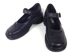 Dr Martens Shoes Leather Black England Creeper Mary Jane Oxford Womens US 7 UK 5 | eBay