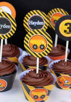 Hayden's Construction Zone Birthday  | CatchMyParty.com