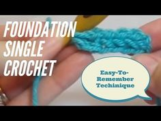 (60) Foundation Single Crochet Tutorial #1: How to Foundation Single Crochet (FSC) - YouTube