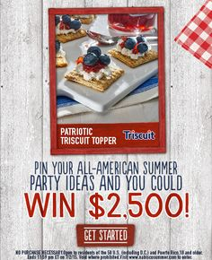 Pin your All-American Summer party ideas and you could win $2,500!