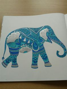 From Animal Kingdom book, using Turquoise and True Blue Promarkers.