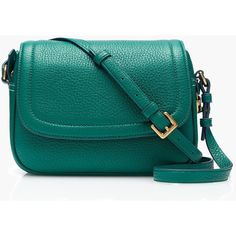 J.Crew Signet Flap Bag ($96) ❤ liked on Polyvore featuring bags, handbags, shoulder bags, hand bags, leather handbags, handbag purse, blue leather shoulder bag and leather shoulder bag