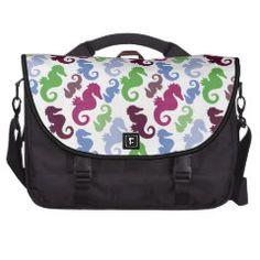 Seahorses Pattern Nautical Beach Theme Gifts Laptop Bags