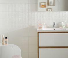 Inspirations décoration Castorama le carrelage mural Blanc reliefé