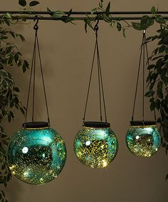 This Three-Piece Blue LED Orb Light Set by Save On Crafts is perfect! #zulilyfinds