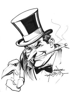 Original Comic Art titled Neal Adams Penguin Commission, located in JASON's Neal Adams Comic Art Gallery Penguin Drawing, Batman Drawing, Batman Artwork, Penguin Art, Batman Comic Art, The Penguin Batman, Penguin Sketch, Marvel Drawings, Batman Robin