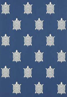 TURTLE BAY, Blue, T5771, Collection Biscayne from Thibaut